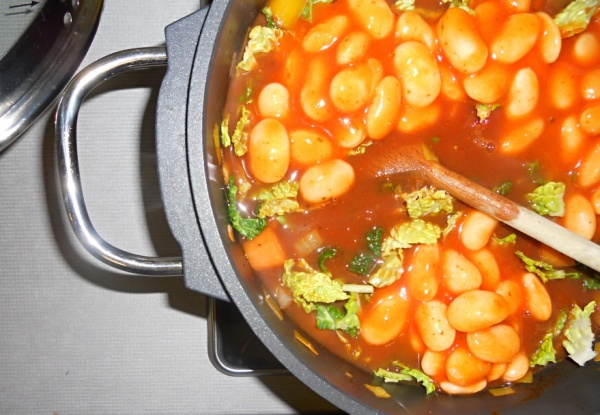 Beans and Tomatoes and Cabbage