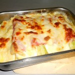 Cooked Ham and Leek Bake