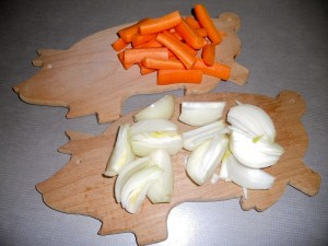 Prepared Carrots and Onions