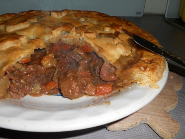 Cooked Steak and Ale Pie