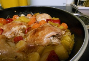 Chicken Casserole with White Wine
