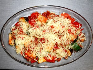 Meat Vegetables and Cheese Bake