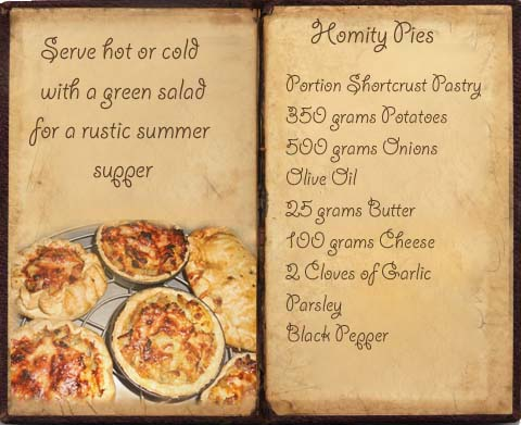 Homity Pie Recipe Book