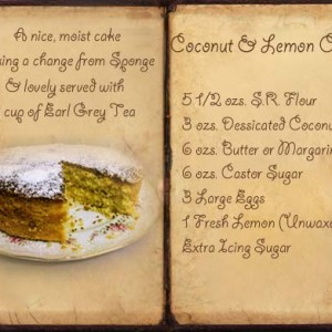 Recipe for Coconut and Lemon Cake