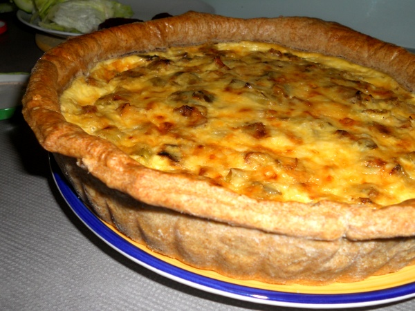 Finished Cheese Leek Quiche