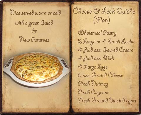 Recipe for Wholemeal Cheese and Leek Quiche