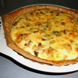 Wholemeal Leek and Cheese Flan