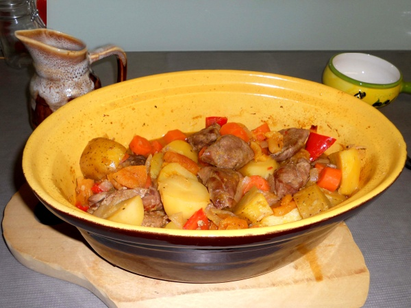 Completed Pork and Apricot Casserole