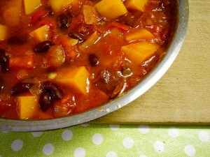 Squash Bean and Sausage Chili
