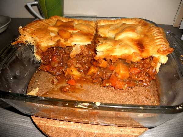 Recipe Meat and Potato Pie
