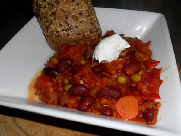 Lentil and Bean Chili