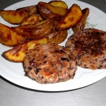 Bean Burgers with Wedges