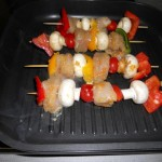 Cooking the Chicken Kebabs