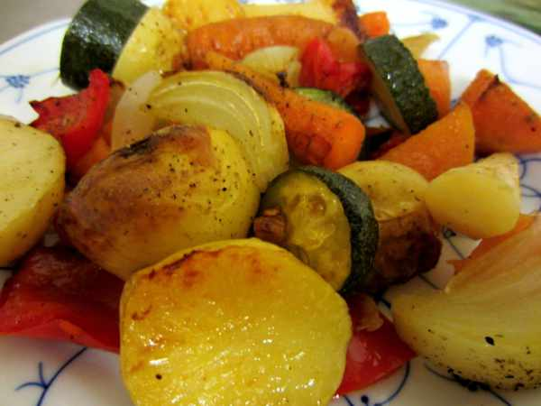 Oven Roasted Vegetables with Maple Syrup