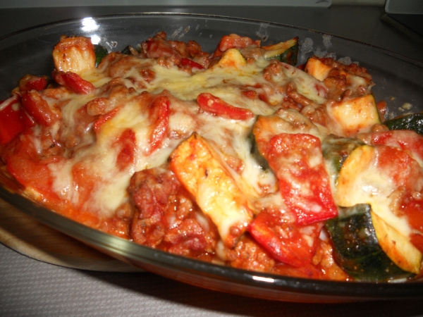 Beef and Cheese Ratatouille