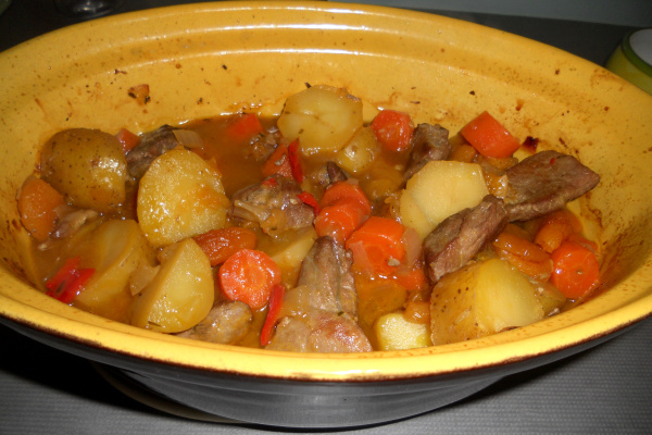 Finished Fruit and Pork Casserole